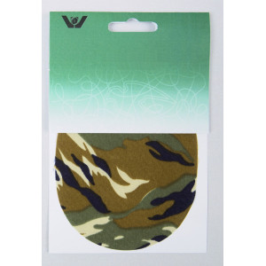 Strygemærke Camouflage Army Oval 10x12 cm - 2 stk