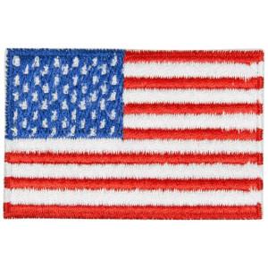 Strygemærke Flag USA 4x7 cm - 1 stk