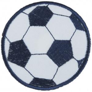 Strygemærke Fodbold Blå 7 cm - 1 stk