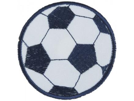 Image of   Strygemærke Fodbold Blå 7 cm - 1 stk