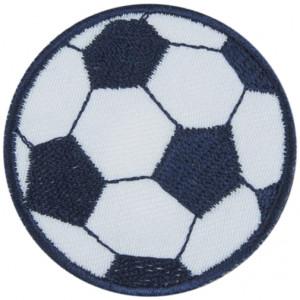 Strygemærke Fodbold Blå 5 cm - 1 stk