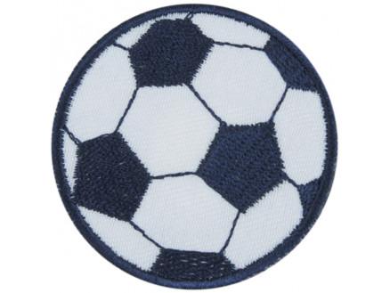 Image of   Strygemærke Fodbold Blå 5 cm - 1 stk