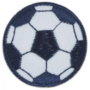 Image of   Strygemærke Fodbold Blå 4 cm - 1 stk