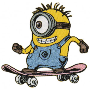 Image of   Minions Strygemærke Skateboard 7,5x7,5 cm - 1 stk