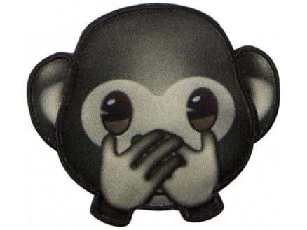 Image of   Emoji Strygemærke Abe Mund 6,5x7,5 cm - 1 stk