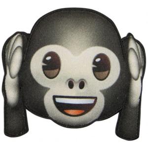 Emoji Strygemærke Abe Øre 6,5x7,5 cm - 1 stk