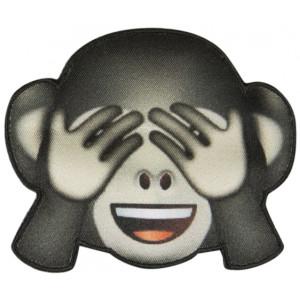 Emoji Strygemærke Abe Øjne 6,5x8 cm - 1 stk