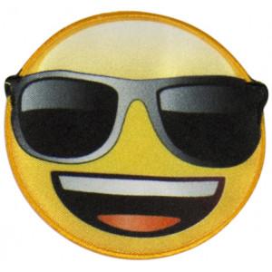 Emoji Strygemærke Smiley Solbriller 6,5 cm - 1 stk