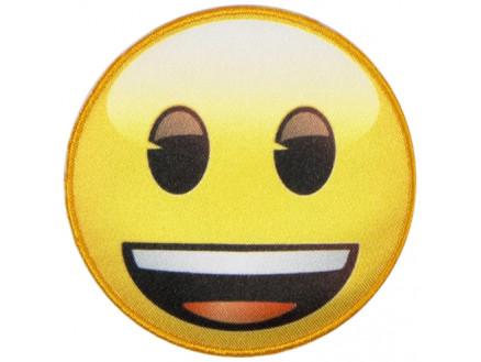 Image of   Emoji Strygemærke Smiley Smil 6,5 cm - 1 stk
