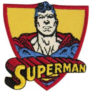 DC Comics Superman Strygemærke med tekst 6x5,5 cm - 1 stk