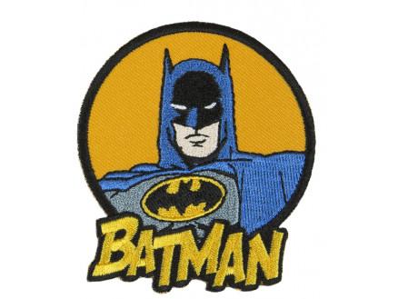 Image of   DC Comics Batman Strygemærke med tekst 7x6,5 cm - 1 stk