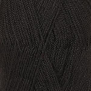 Drops Flora Garn Unicolor 06 Sort