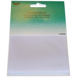 Strygemærke / Reparationslap Polyester/Bomuld Hvid 10x40 cm - 1 stk