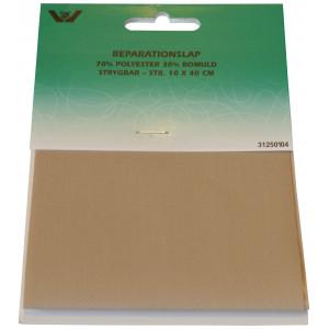 Strygemærke / Reparationslap  Polyester/Bomuld Beige 10x40 cm - 1 stk