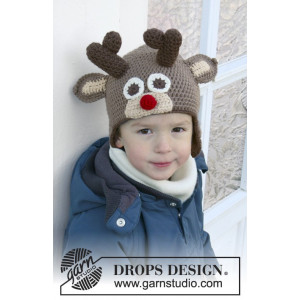 Little Rudolph by DROPS Design - Hue Hæklekit str. 6/9 mdr - 9/10 år