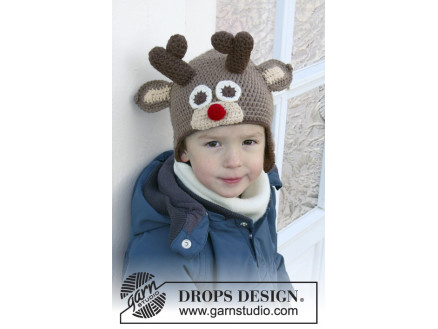 Image of   Little Rudolph by DROPS Design - Hue Hækleopskrift str. 6/9 mdr - 9/10