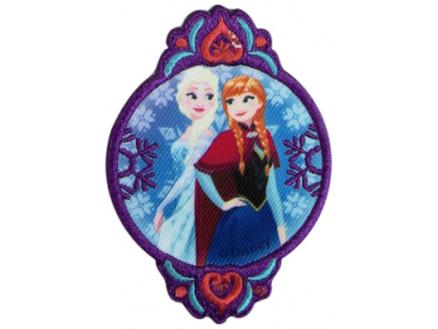 Image of   Disney Frost Strygemærke Elsa og Anna 8,5x6 cm - 1 stk