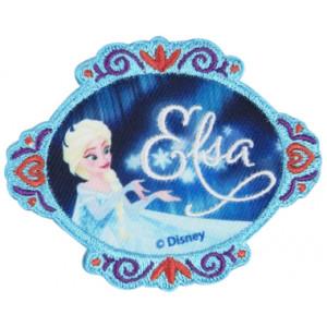 Disney Frost Strygemærke Elsa med tekst 6,5x8 cm - 1 stk