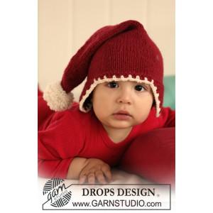 Santa Baby by DROPS Design - Baby nissehue Strikkeopskrift str. 1/3 mdr - 3/4 år