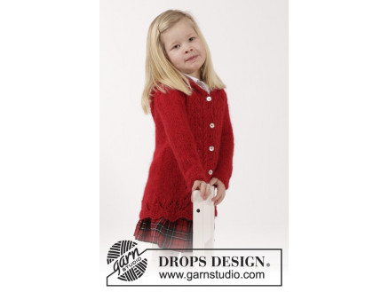 Image of   Bright Sally by DROPS Design - Jakke Strikkeopskrift str. 2 år - 11/12