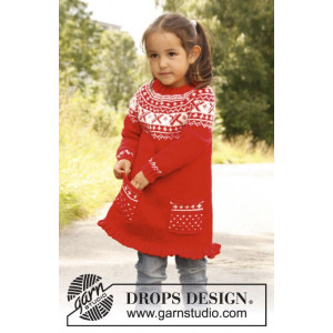 Selina by DROPS Design - Tunika Strikkeopskrift str. 3/4 år - 11/12 år