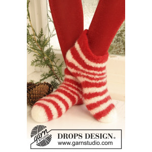 Christmas Slippers by DROPS Design - Filtede Tøfler Strikkeopskrift str. 35/37 - 42/44