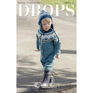 Drops katalog (SmåDROPS) med strikke- og hækleopskrifter til børn nr. 27