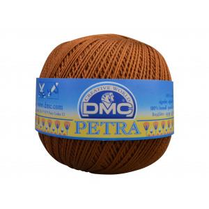 DMC Petra nr. 8 Hæklegarn Unicolor 5434 Gyldenbrun