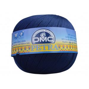DMC Petra nr. 8 Hæklegarn Unicolor 5823 Marineblå