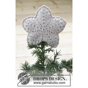 Top That! by DROPS Design - Juletræsstjerne Hækleopskrift 20x20 cm