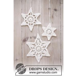 Wishing Stars by DROPS Design - Jule Stjerner Hækleopskrift 3 størrelser