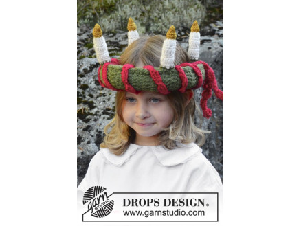 Little Lucia by DROPS Design - Luciakrone Hækleopskrift 63 cm thumbnail
