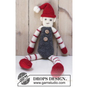 Santa's Buddy by DROPS Design - Nisse Hæklekit 42 cm