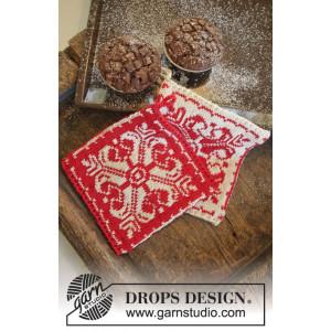 Baking Christmas by DROPS Design - Grydelapper Strikkeopskrift 20x19 cm - 2 stk