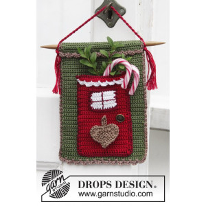 Christmas Treat by DROPS Design - Kalenderdør Julepynt Hæklekit 15x20 cm