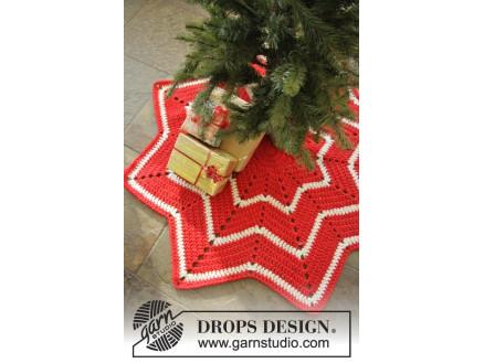 Billede af Under the Christmas Tree by DROPS Design - Juletræstæppe Hækleopskrif