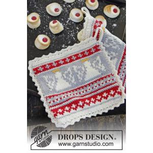 Holy Cookie! by DROPS Design - Grydelapper Strikkeopskrift 20x20 cm - 2 stk