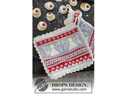 Holy Cookie! by DROPS Design - Grydelapper Strikkeopskrift 20x20 cm - thumbnail