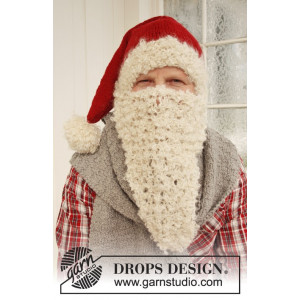 Mr. Kringle by DROPS Design - Nissehue, Halstørklæde og Nisseskæg Strikkeopskrift str. S/M - M/L