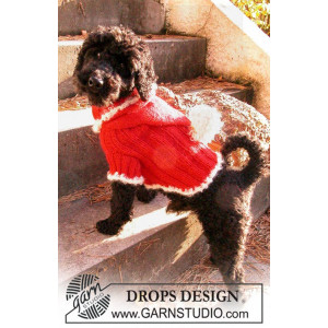 Santa Dog by DROPS Design - Hundebluse Strikkeopskrift str. XS - M