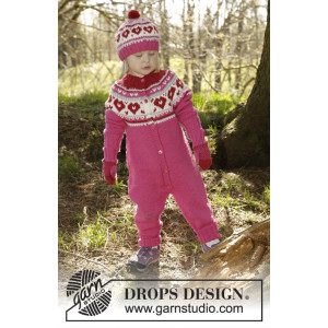 Warmhearted by DROPS Design - Heldragt Strikkeopskrift str. 12/18 mdr - 5/6 år