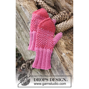 Warmhearted Mittens by DROPS Design - Vanter Strikkeopskrift str. 12/18 mdr - 5/6 år