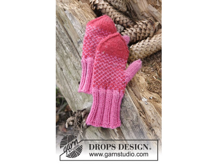 Image of   Warmhearted Mittens by DROPS Design - Vanter Strikkeopskrift str. 12/1