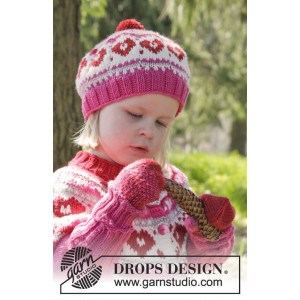 Warmhearted Hat by DROPS Design - Hue Strikkeopskrift str. 12/24 mdr - 3/6 år