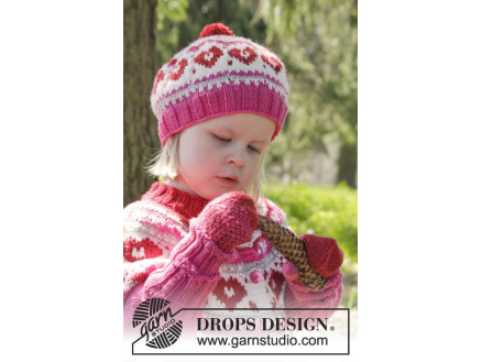 Image of   Warmhearted Hat by DROPS Design - Hue Strikkeopskrift str. 12/24 mdr -