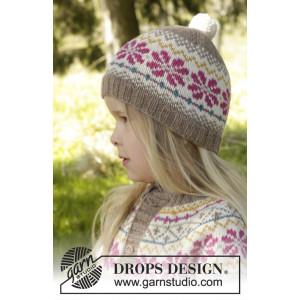 Prairie Fairy Hat by DROPS Design - Hue Strikkeopskrift str. 3/5 - 9/12 år
