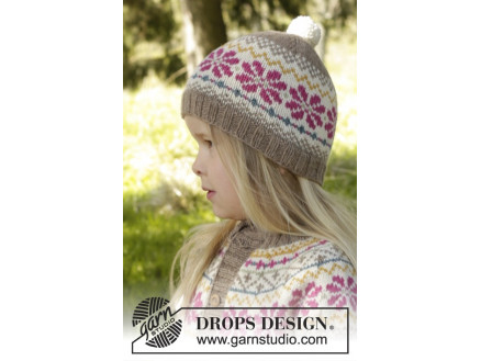 Image of   Prairie Fairy Hat by DROPS Design - Hue Strikkeopskrift str. 3/5 - 9/1