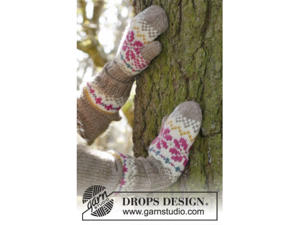 Image of   Prairie Fairy Mittens by DROPS Design - Vanter Strikkeopskrift str. 3/