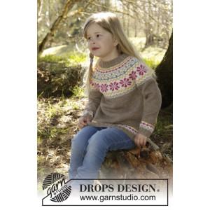 Prairie Fairy Jumper by DROPS Design - Bluse Strikkeopskrift str. 3/4 - 11/12 år