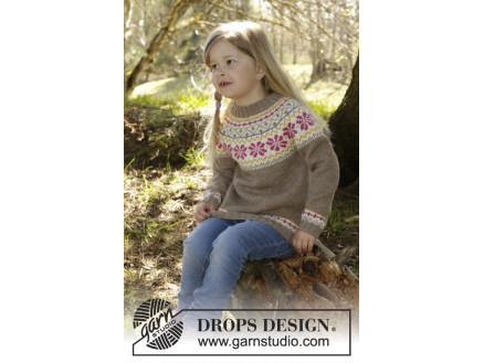 Image of   Prairie Fairy Jumper by DROPS Design - Bluse Strikkeopskrift str. 3/4